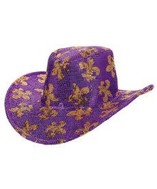 Amscan Mardi Gras Sequined Cowboy Hat