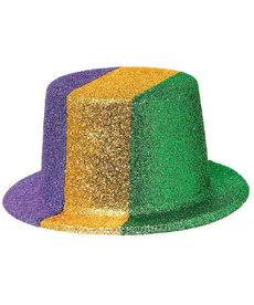 Amscan Plastic Glitter Mardi Gras Top Hat