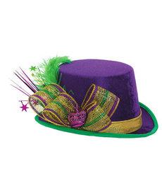Amscan Deluxe Mardi Gras Top Hat