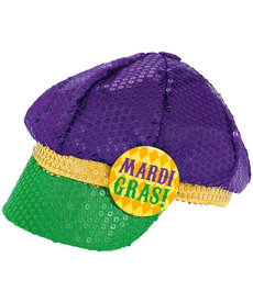 Mardi Gras Sequin Floppy Hat