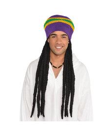 Mardi Gras Buffalo Soldier Wig