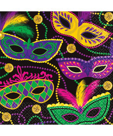 Luncheon Napkins: Mardi Gras Mask (16ct.)