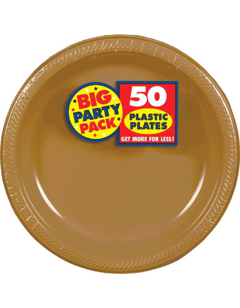 """10"""" Plate - Gold (50ct.)"""