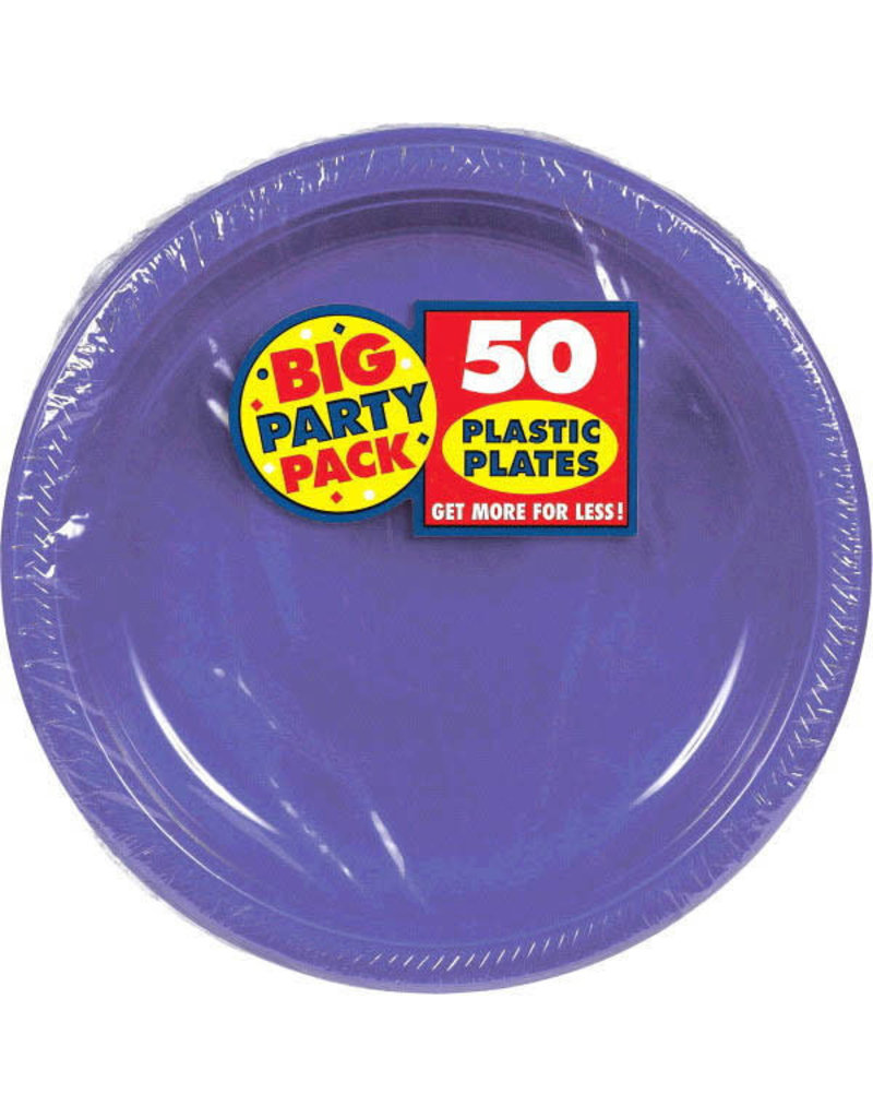 "10"" Plate - Purple (50ct)"