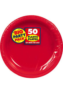"""10"""" Plate - Red (50ct.)"""