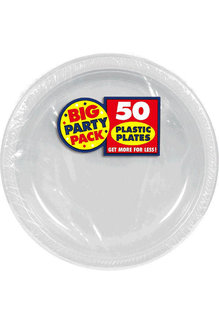 """10"""" Plate - Silver (50ct.)"""