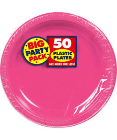 "7"" Plate - Bright Pink (50ct.)"