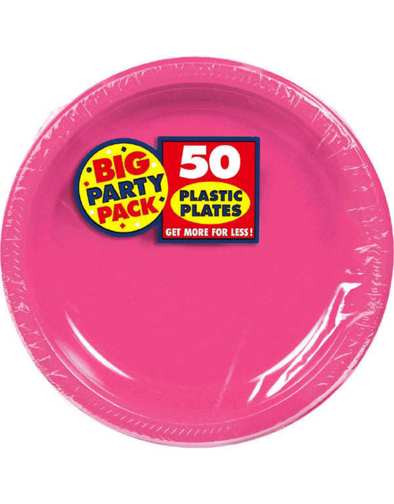 """7"""" Plate - Bright Pink (50ct.)"""