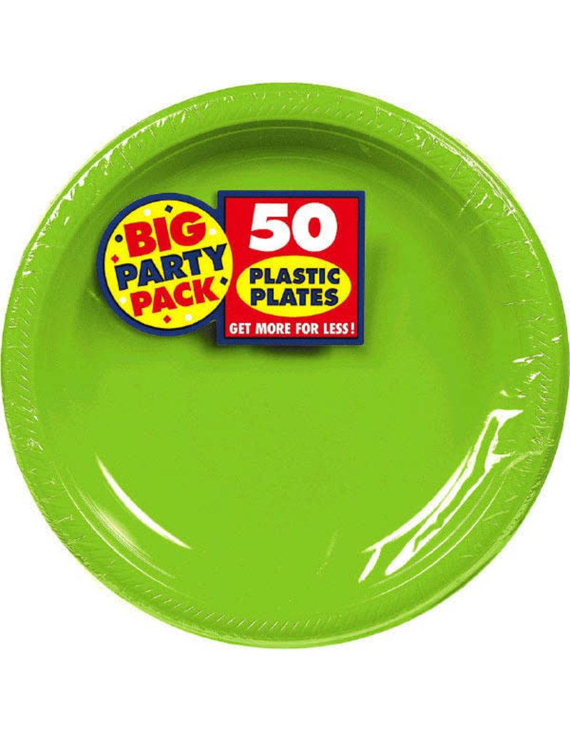 """7"""" Plate - Kiwi Green (50ct.)"""