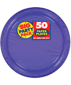 "7"" Paper Plates - Purple (50ct.)"