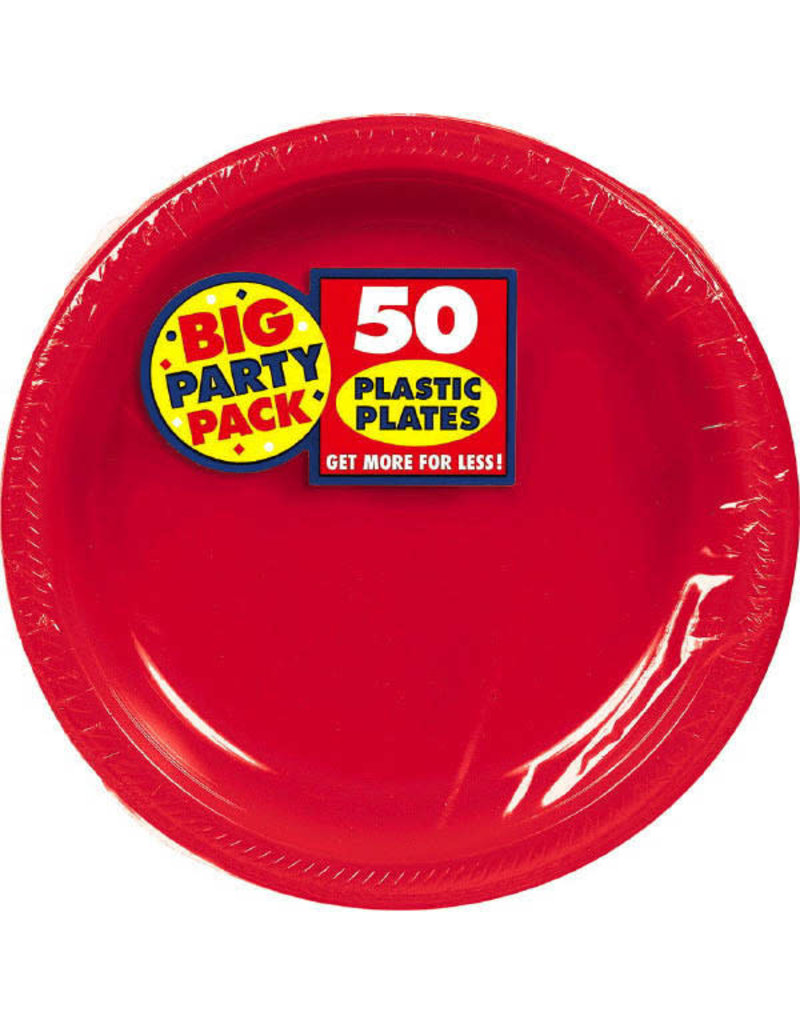 """7"""" Plate - Red (50ct.)"""