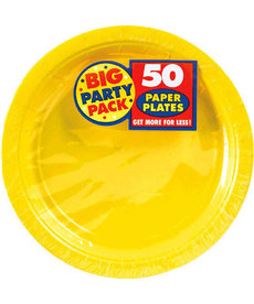 "7"" Paper Plates - Yellow (50ct.)"