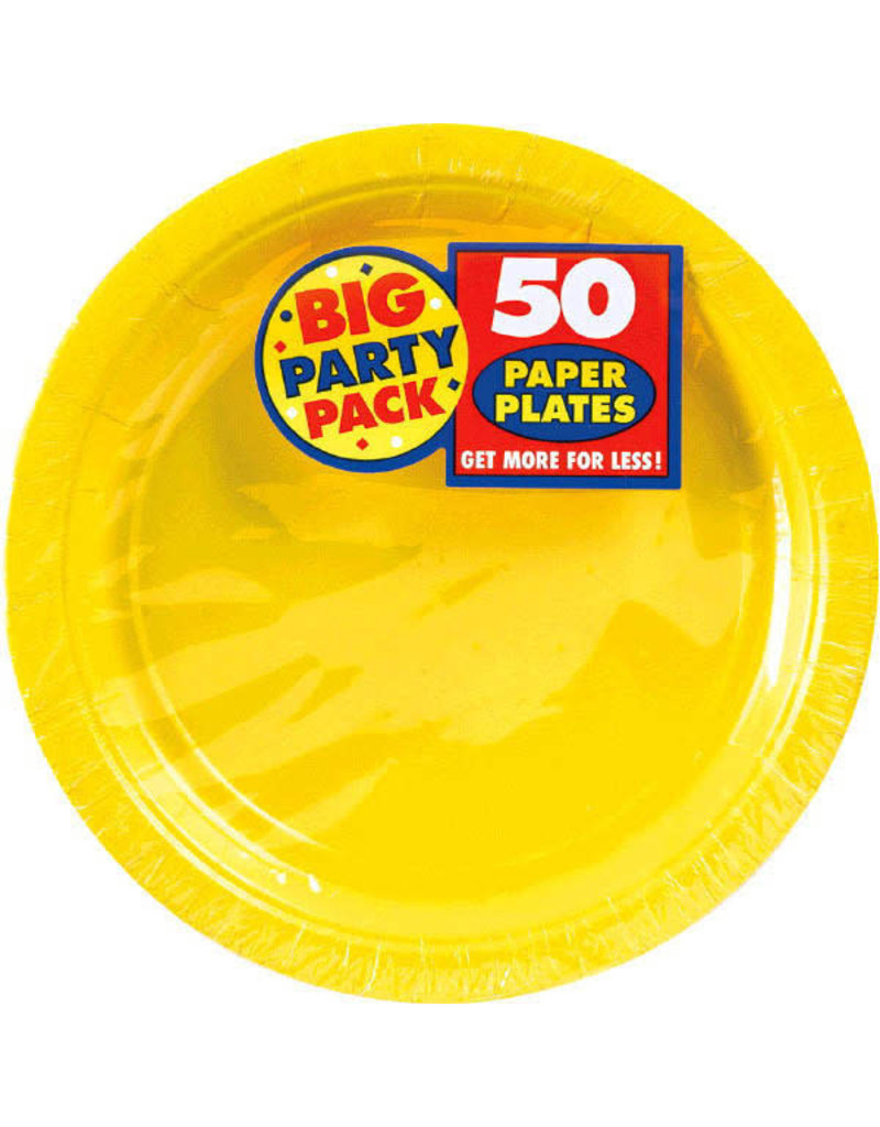 """7"""" Paper Plates - Yellow (50ct.)"""