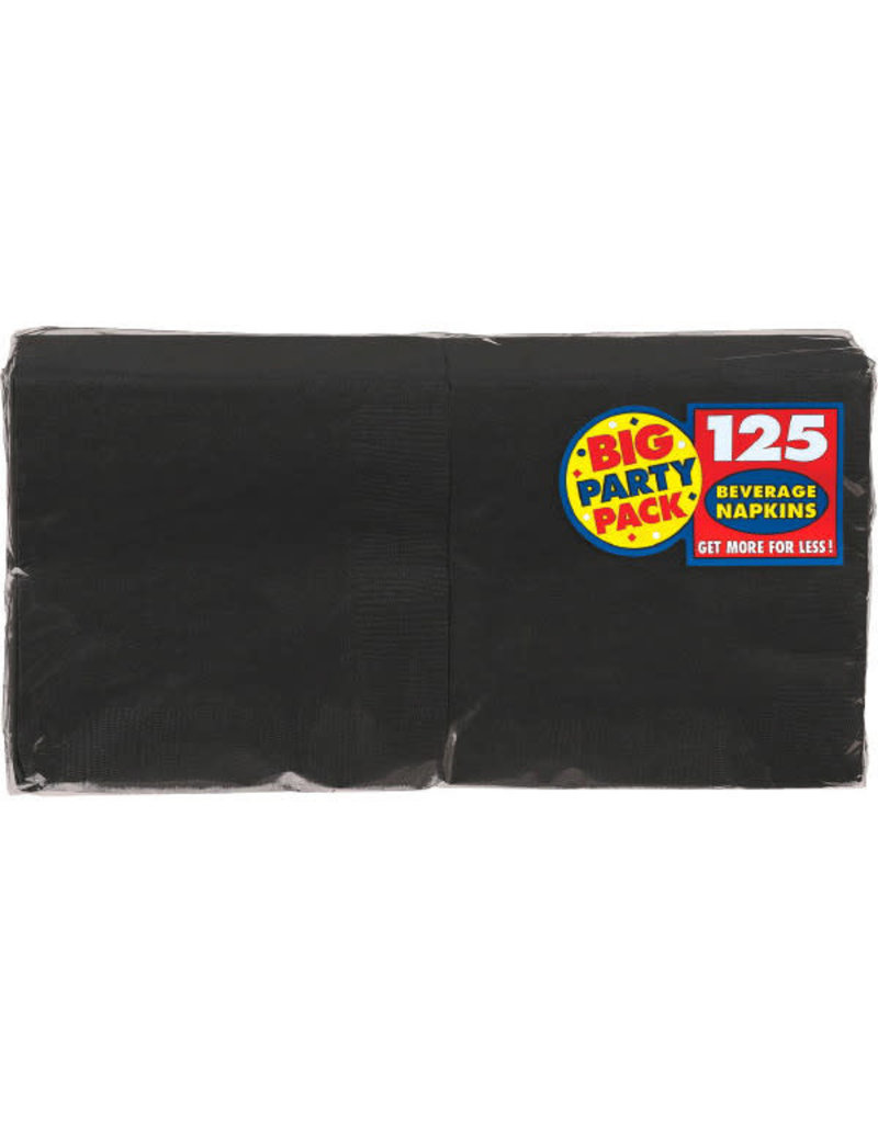 Beverage Napkins - Black (125ct.)