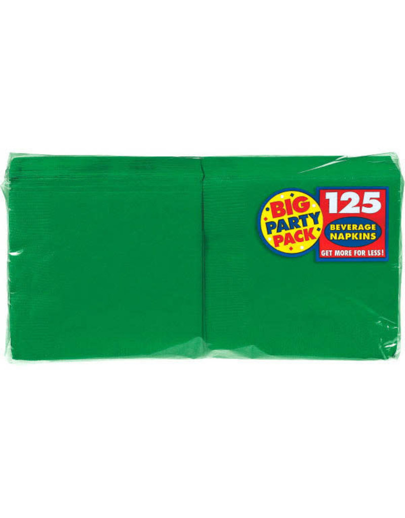 Beverage Napkins - Green (125ct.)
