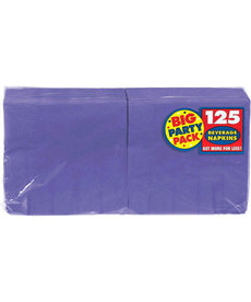 Beverage Napkins - Purple (125ct.)