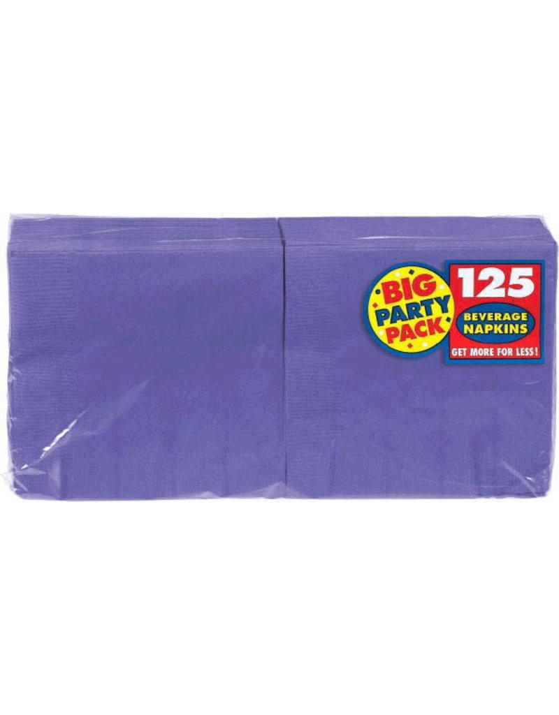 Beverage Napkins - Purple (125ct.)