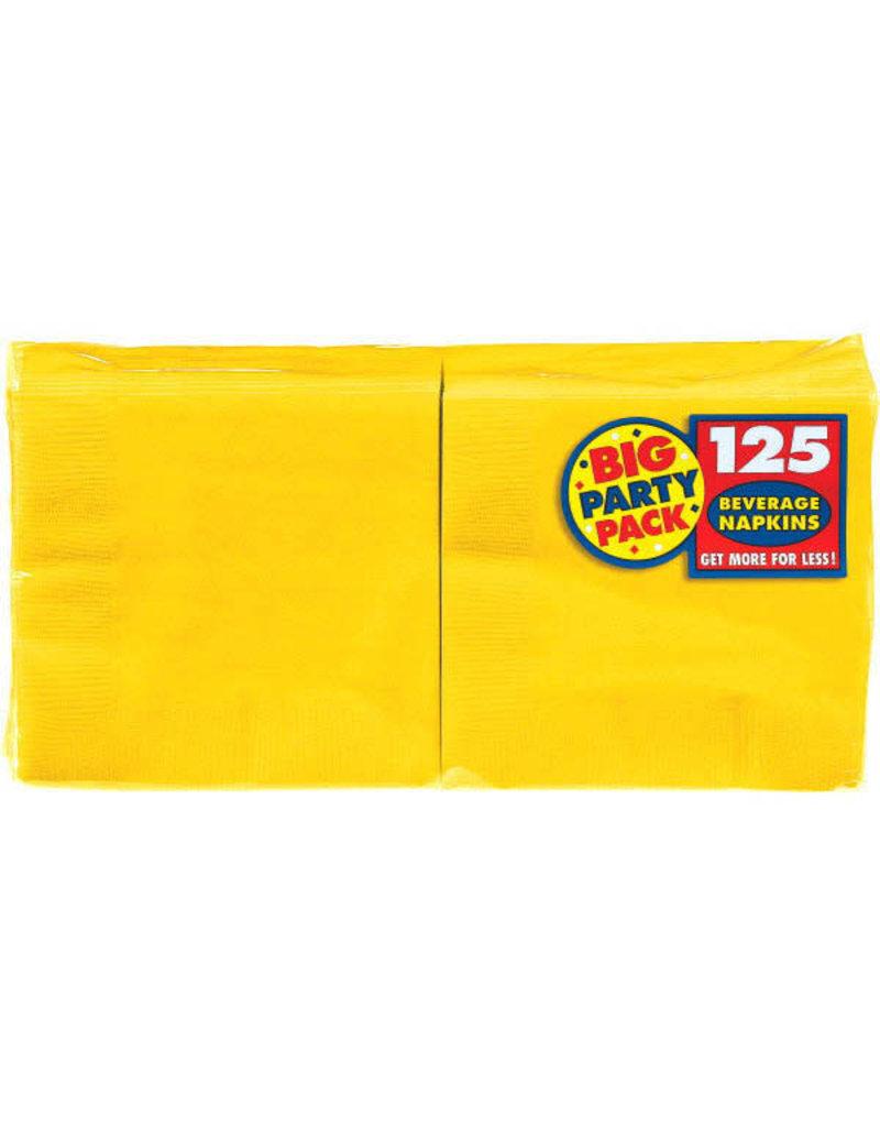 Beverage Napkins - Yellow (125ct.)