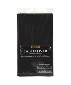 Plastic Table Cover: Rectangle - Black