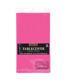 Plastic Table Cover: Rectangle - Bright Pink