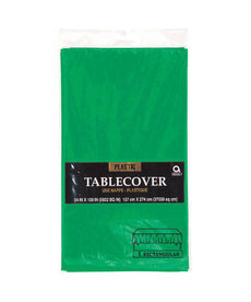 Plastic Table Cover: Rectangle - Green