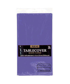 Plastic Table Cover: Rectangle - Purple