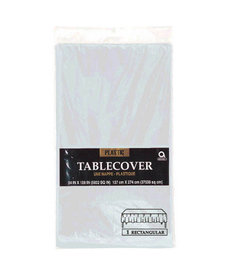 Plastic Table Cover: Rectangle - Silver