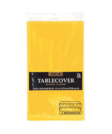 Plastic Table Cover: Rectangle - Yellow