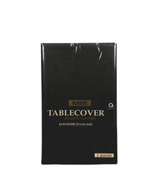 Plastic Table Cover: Round - Black