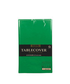Plastic Table Cover: Round - Green