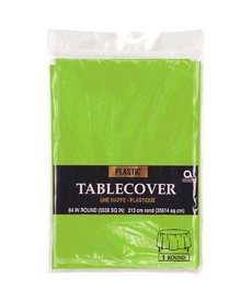 Plastic Table Cover: Round - Kiwi Green