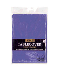 Plastic Table Cover: Round - Purple