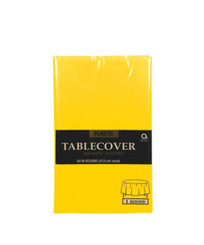 Plastic Table Cover: Round - Yellow