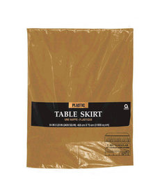 Plastic Table Skirt - Gold