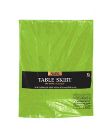 Plastic Table Skirt - Kiwi Green