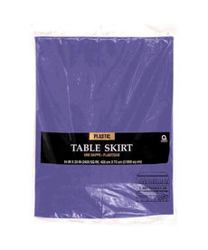 Plastic Table Skirt - Purple