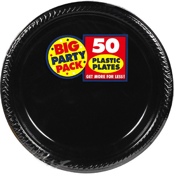 Solid Black Party Supplies