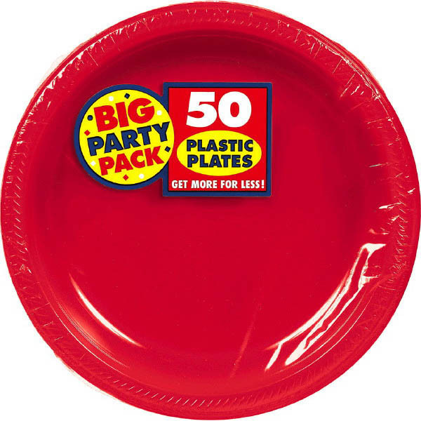 Solid Red Party Supplies & Tableware
