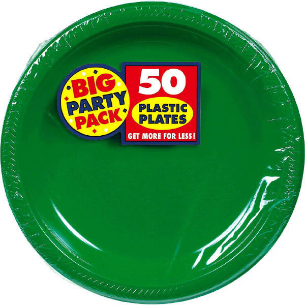 Solid Green Party Supplies & Tableware