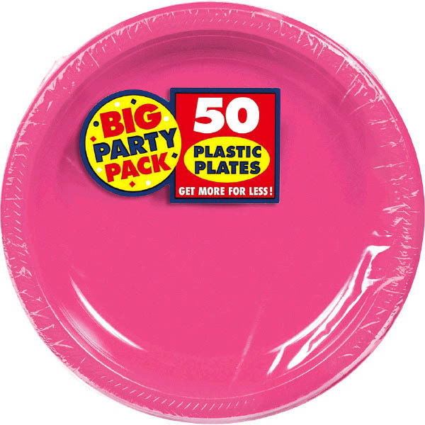 Solid Pink Party Supplies & Tableware
