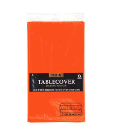 Plastic Table Cover: Rectangle - Orange
