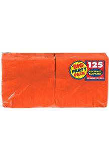 Beverage Napkins - Orange (125ct.)