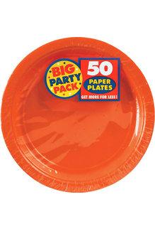 """7"""" Paper Plates - Orange (50ct.)"""