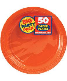 """9"""" Paper Plates - Orange (50ct.)"""