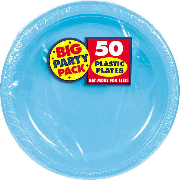 Solid Caribbean Blue Party Supplies & Tableware