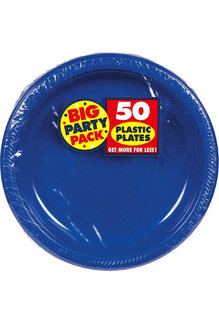 "10"" Plate - Royal Blue (50ct.)"