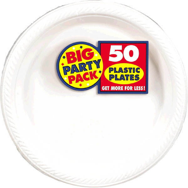 Solid White Party Supplies & Tableware