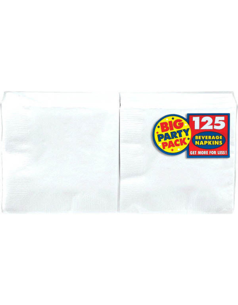Beverage Napkins - White (125ct.)