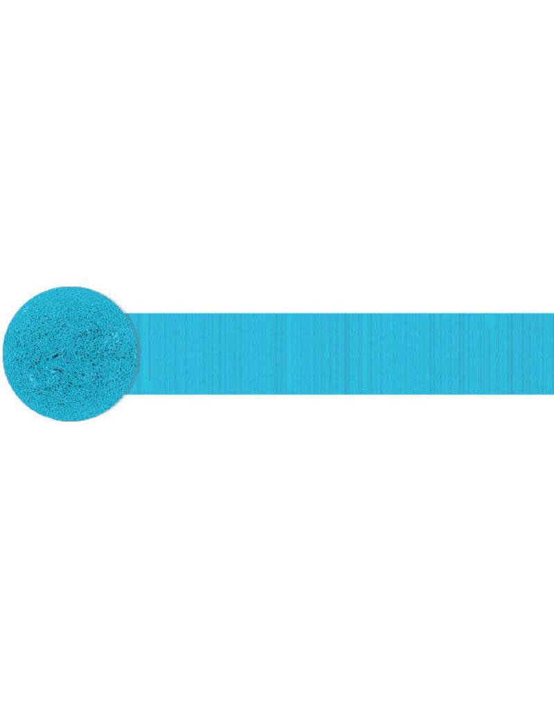 81' Crepe Streamer: Caribbean Blue