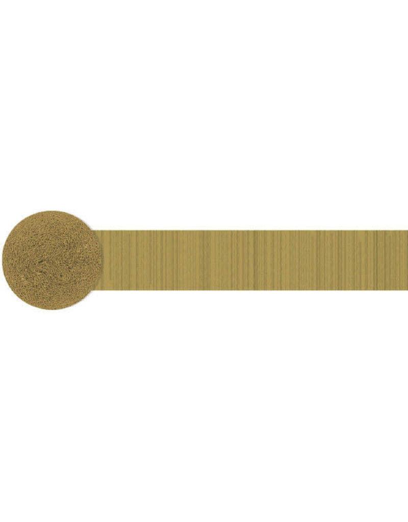 81' Crepe Streamer: Gold
